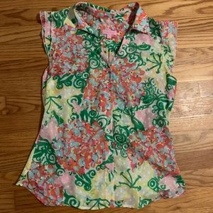 Lilly Pulitzer floral blouse